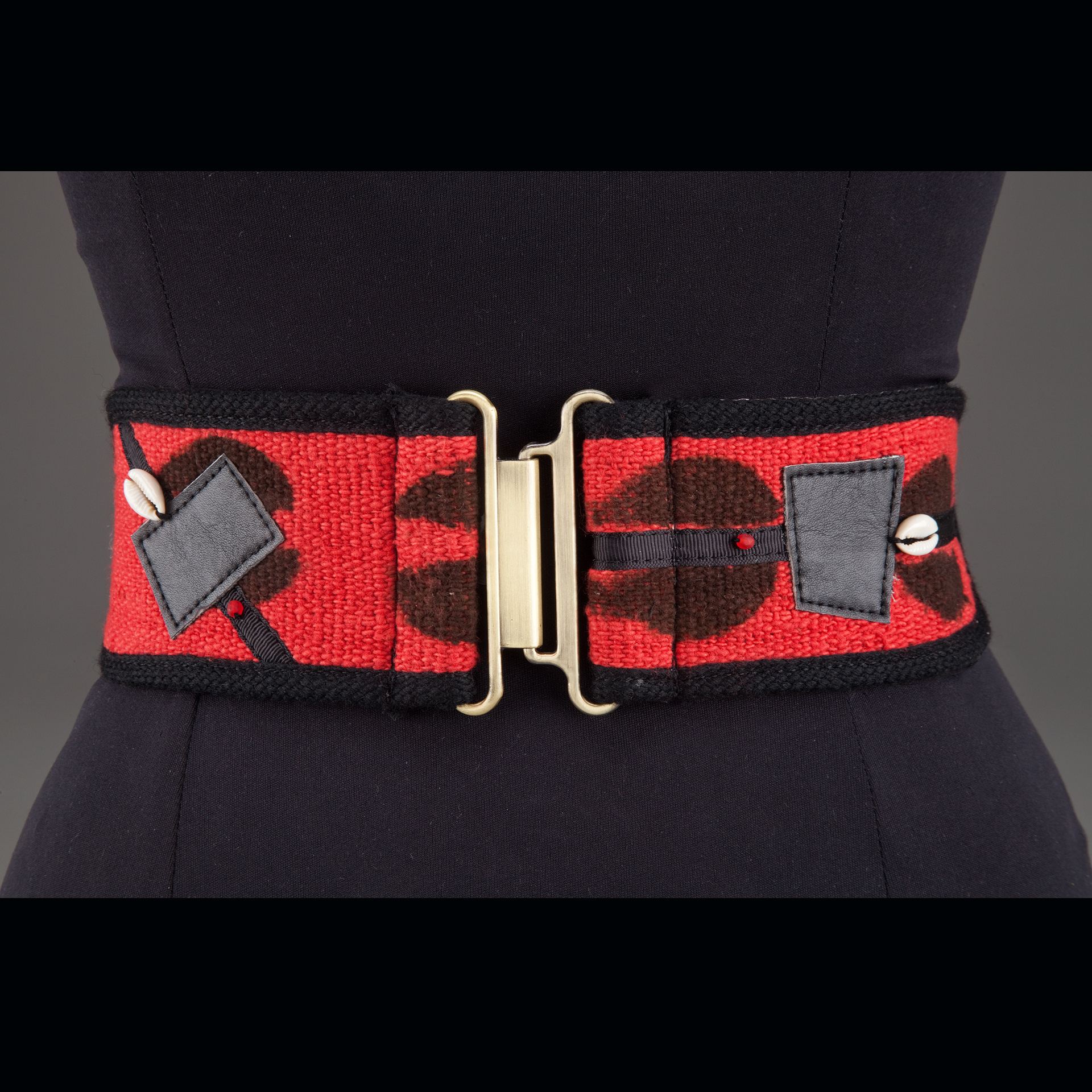 Red Mudcloth Belt