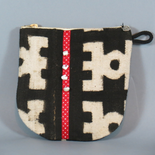 Blk/White Mudcloth Coin Bag