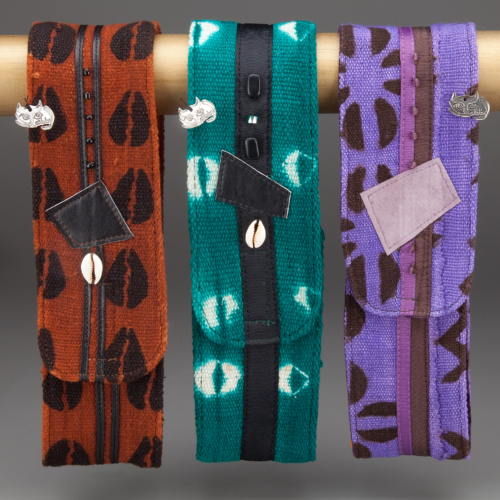 Brown, Teal and Lilac Mudcloth Headwraps